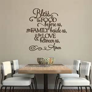 Wall Stickers For The Kitchen Bless The Food Before Us Family Beside Us Love Between