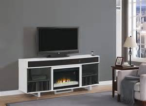 enterprise electric fireplace entertainment in white