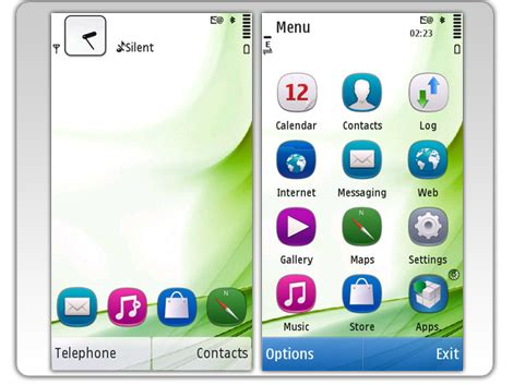 transparent themes for nokia x2 01 mobile phones s60v5 theme anna by winlog
