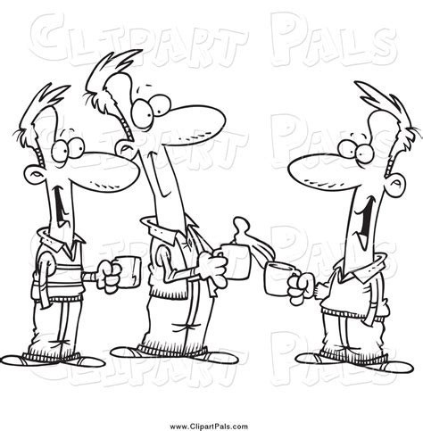 kid talking coloring page coffee chat clipart clipart suggest
