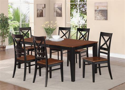 pc rectangular dinette dining room set table wood seat chairs black qu blk