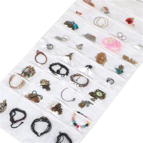 Gantungan Perhiasan Accessories Display Hanging Jewelry Bag jewelry hanging storage organizer 72 pocket holder earring bag pouch display ebay