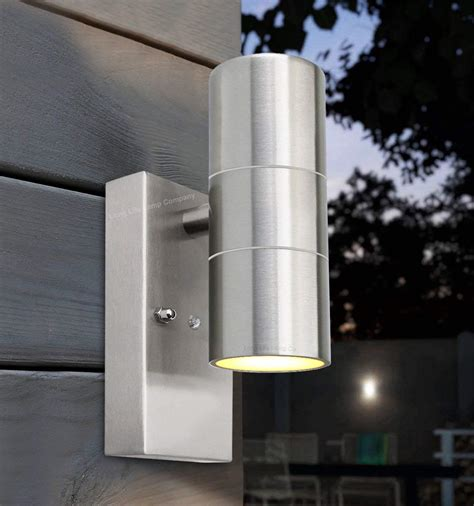up and down lights with sensor dusk till dawn sensor outdoor up down wall light stainless