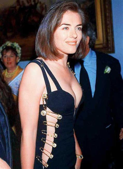 Buy Elizabeth Hurleys Safety Pin Versace Dress by Liz Hurley And The Versace Safety Pin Dress The Mass