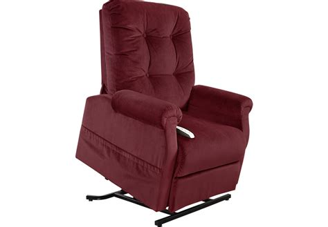 recliner chair with lift effingham wine lift chair recliner recliners red