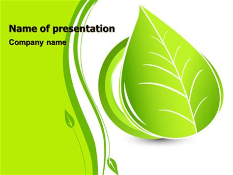 template powerpoint leaf tender green spring leaf powerpoint template backgrounds