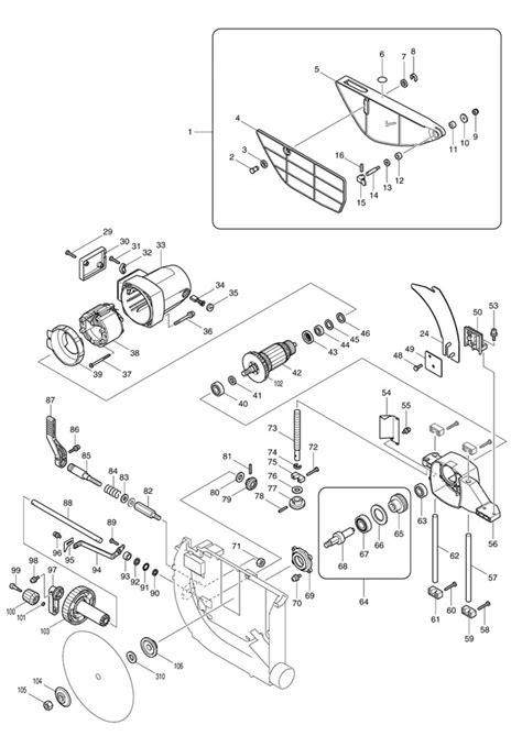 makita table saw parts makita 2704 260mm table saw spare parts part shop direct