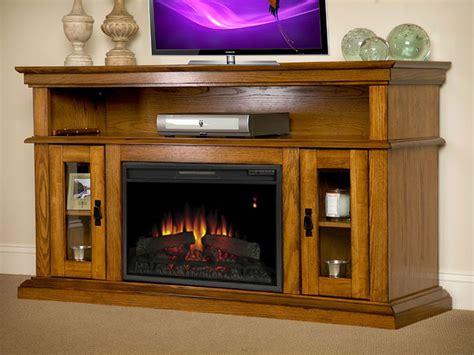 brookfield 26 quot premium oak media console electric