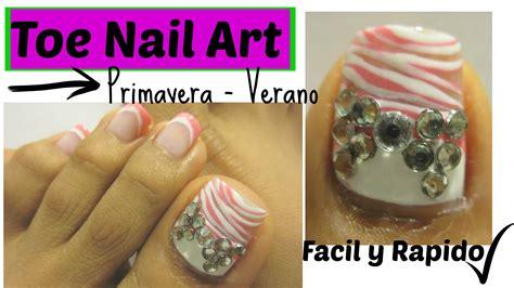imagenes de uñas acrilicas con swarovski como pintar las u 241 as de los pies para la primavera verano
