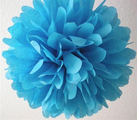 turquoise 1 tissue paper pom pom wedding decorations