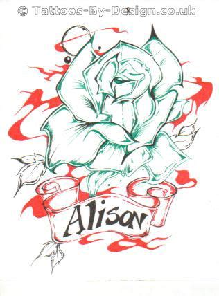 tattoo alison alison of the rose tattoo