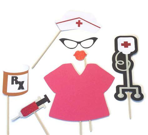 printable nurse photo booth props nurse themed photo booth props 7 piece nurse themed props