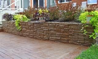 Decorating Concrete Block Walls Traditional Landscape