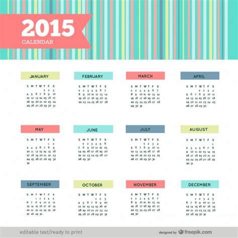 Calendario Can 2015 Colorful 2015 Calendar