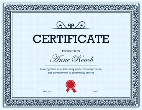 certificate of performance template 27 printable award certificates achievement merit honor