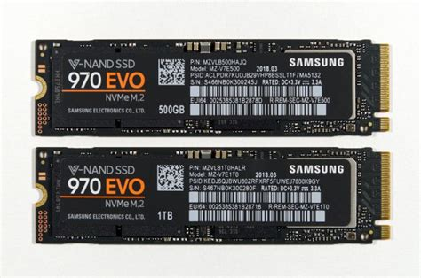 Samsung 970 Evo 500gb The Mainstream Rises Samsung S 970 Evo 500gb 1tb Ssds Reviewed
