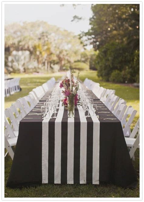 navy and white striped table runner wholesale wholesale lot of 12 grey and white stripe wedding