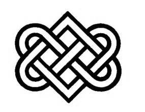 buddhist artwork: line art: knot symbol 5
