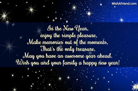 in the new year enjoy the new year message