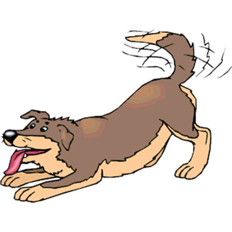 wagging puppies wagging clipart