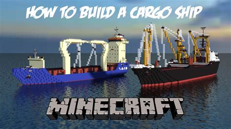 minecraft cargo boat how to build a cargo ship in minecraft part 3 engine