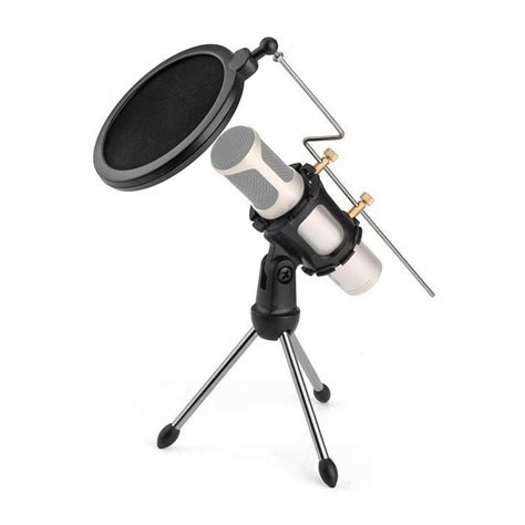 Stand Microphone Tripod Pop Filter Mikrophone Universal mini tripod stand mikrofon universal dengan pop filter