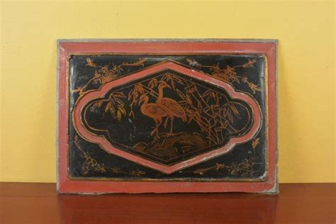 wood panel painting chinese wood panel painting common crane
