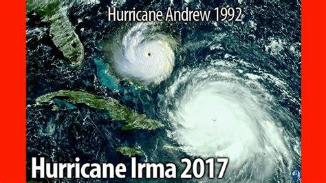 hurricane irma size hurricane irma vs hurricane andrew comparative size doovi