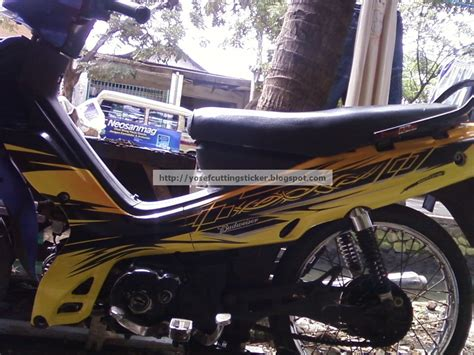 Yamaha Vega Sticker Design by Yosef Cutting Sticker Surabaya Cutting Sticker Ninja 250