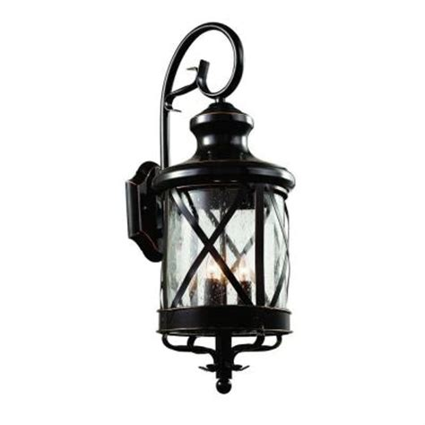 Outdoor Coach Lighting Bel Air Lighting Carriage House 3 Light Bronze Outdoor Coach Lantern With Seeded Glass