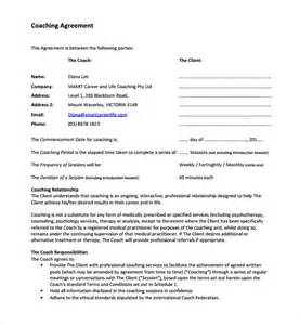 executive coaching agreement template coaching contract template 9 free documents in pdf