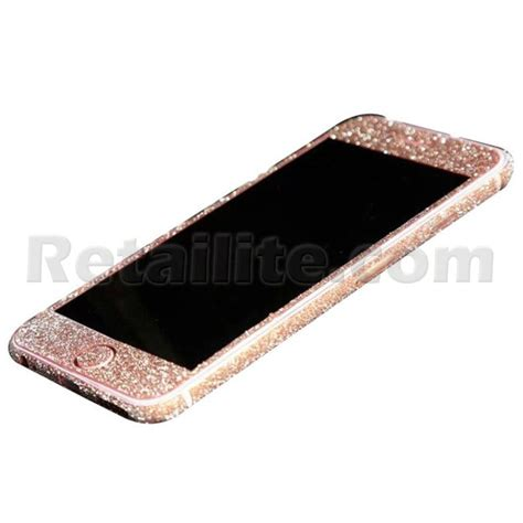 rose gold rose gold glittery iphone 6 6s full body sticker wrap