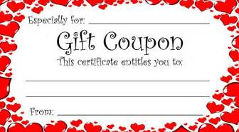 gift coupon template free printable gift coupon template
