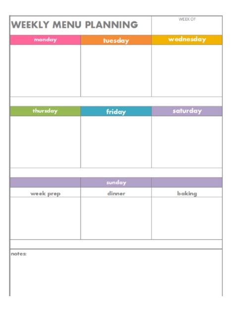 week by week planner template search results for menu plan weekly blank calendar 2015