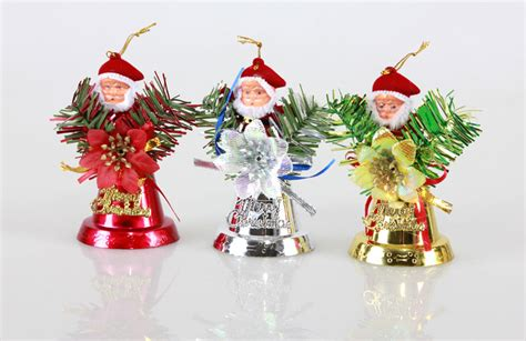 6pcs christmas bells ornaments christmas tree hanging