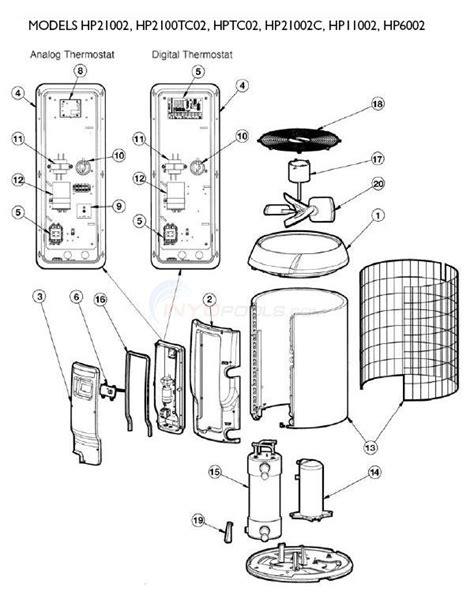 hayward 2 parts diagram hayward heatpro heat pumps set 2 parts inyopools
