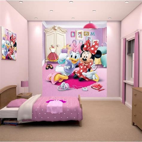 terrific minnie mouse wallpaper for bedroom 47 for home papier peint enfant minnie fresque murale d 233 corative