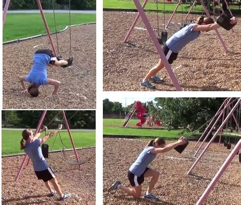 swing workout total body workouts with a swing set or suspension trainer