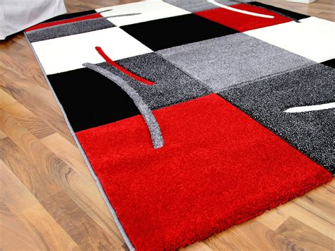 teppich rot grau designer teppich rot grau karo teppiche