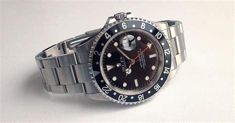 Jam Tangan Pria Rolex Gmt Master 16233 jam tangan second sold mint rolex gmt master ii 16710 w black insert
