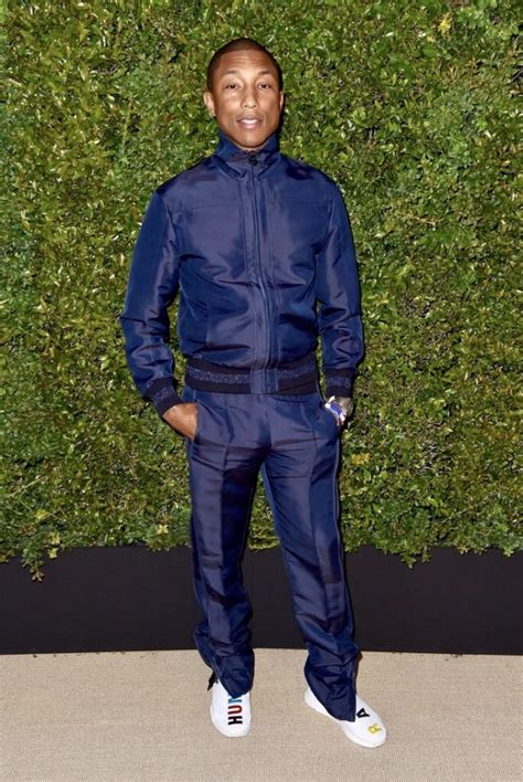 Guccix Pant pharrell williams wears chanel track suit and pharrell x