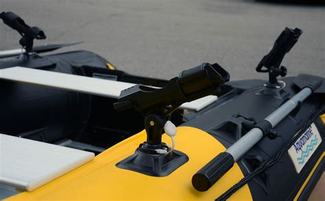 inflatable boat fishing pole holder fishing rod holder glue on inflatable boat patch star port