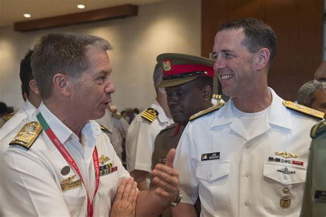 Cno Description by File Chief Of Naval Operations Adm Richardson Cno Talks With The Of The Royal