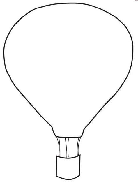 printable balloon shapes free printable hot air balloon template diy pinterest