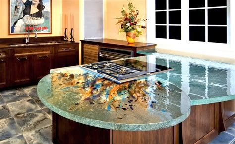 Glass Kitchen Countertops with Glass Kitchen Countertops By Thinkglass Idesignarch