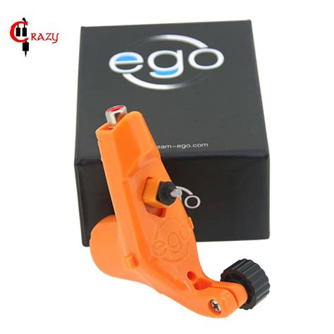 hot sales lots 2 x rotary tattoo machine guns full orange new style bez little ego v2 rotary tattoo machine
