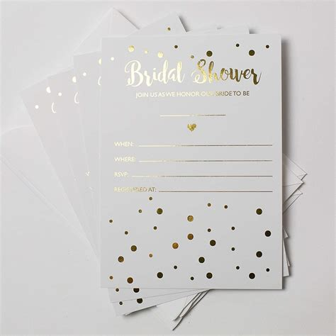 bridal shower invitations top 10 best bridal shower invitations heavy