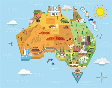 australia in world map australia landmarks map all world maps