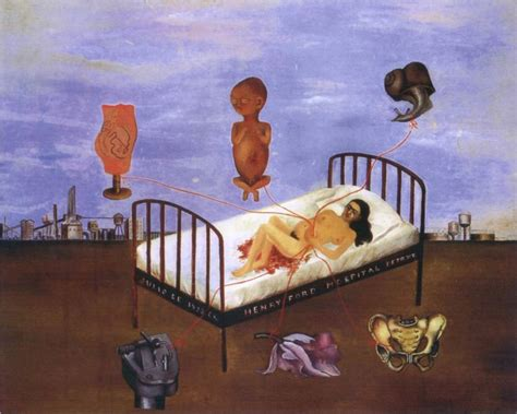 flying bed henry ford hospital 1932 by frida kahlo