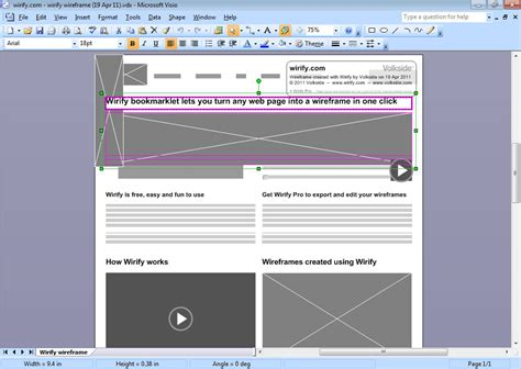 using visio wirify export your wireframes to visio and svg using